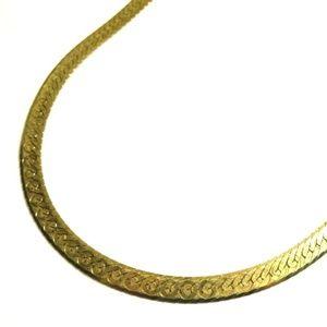 Sterling Silver 18K Gold Plated Herringbone